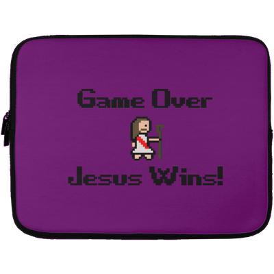 Game Over Jesus Wins Christian Laptop Sleeve - 13 inch