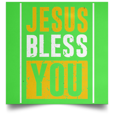 Jesus Bless You Christian Satin Square Poster