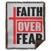 Faith Over Fear Christian Woven Blanket - 50x60