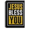 Jesus Bless You Christian Portrait Canvas .75in Frame