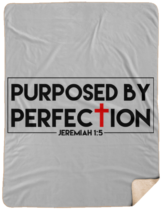 Purposed By Perfection Christian Sherpa Blanket - 60x80