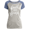 Faith Over Fear Christian Ladies Performance T-Shirt