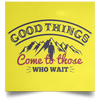 Good Things Christian Satin Square Poster