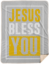 Jesus Bless You Christian Sherpa Blanket - 60x80