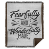 Fearfully & Wonderfully Made Christian Woven Blanket - 50x60