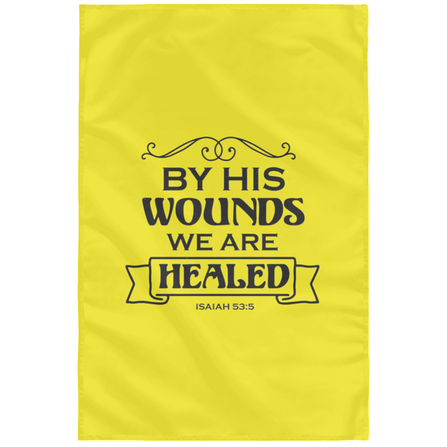 By His Wounds Christian Wall Flag 3ft. x 5ft.