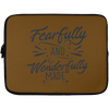 Fearfully & Wonderfully Made Christian Laptop Sleeve - 13 inch