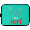 Be Joyful In Hope Christian Laptop Sleeve - 10 inch