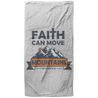 Faith Can Move Mountains Christian Oversized Beach Towel - 37x74