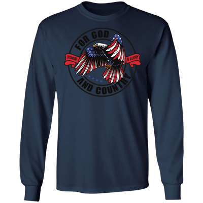 God & Country Long Sleeve Christian T-Shirt