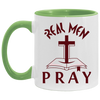 Real Men Pray Christian Accent Mug