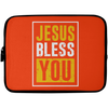 Jesus Bless You Christian Laptop Sleeve - 10 inch