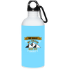 We Walk By Faith Christian 20 oz. Stainless Steel White Water Bottle