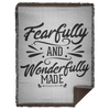 Fearfully & Wonderfully Made Christian Woven Blanket - 60x80