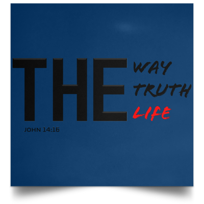 The Way Christian Satin Square Poster