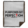 Purposed By Perfection Christian Woven Blanket - 50x60