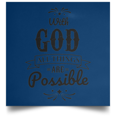 With God Christian Satin Square Poster