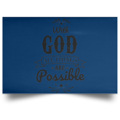 With God Christian Satin Landscape Poster