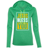 Jesus Bless You Christian Ladies Hooded Long Sleeve Shirt