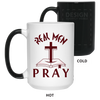 Real Men Pray Christian 15 oz. Color Changing Mug