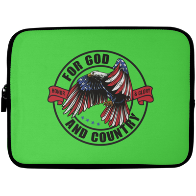 For God & Country Christian Laptop Sleeve - 10 inch