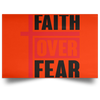 Faith Over Fear Christian Satin Landscape Poster