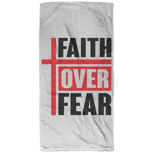 Faith Over Fear Christian Beach Towel - 32x64