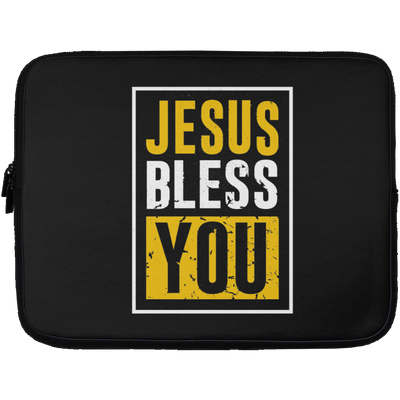 Jesus Bless You Christian Laptop Sleeve - 13 inch
