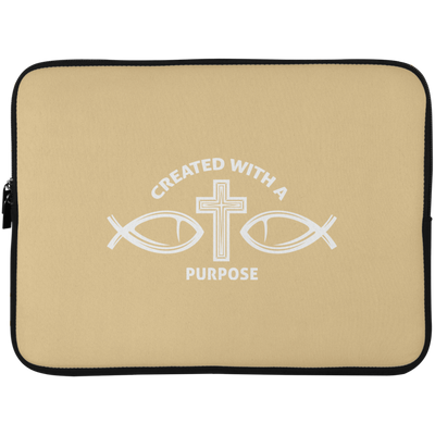 Created With Purpose Christian Laptop Sleeve - 15 Inch