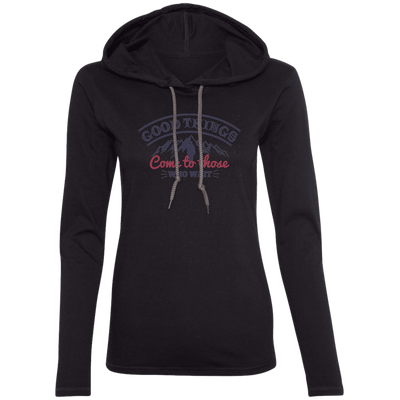 Good Things Christian Ladies Hooded Long Sleeve Shirt