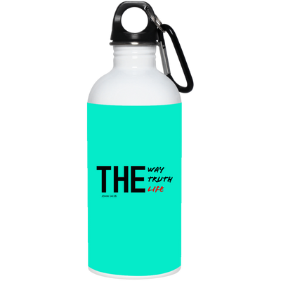 The Way Christian 20 oz. Stainless Steel White Water Bottle
