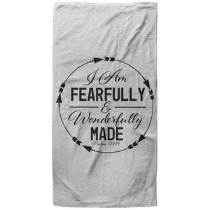 Fearfully & Wonderfully Made Christian Oversized Beach Towel - 37x74