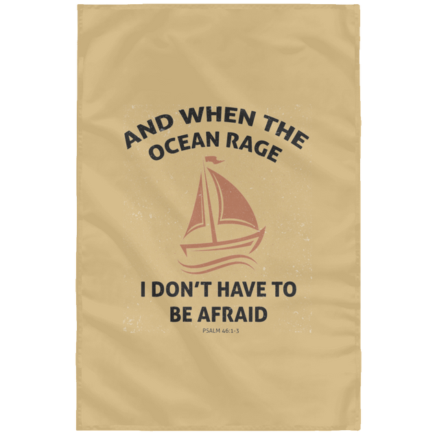 When The Ocean Rage Christian Wall Flag 3ft. x 5ft.