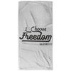 I Choose Freedom Christian Beach Towel - 32x64