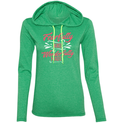 Wonderfully Made Christian Ladies T-Shirt Hoodie