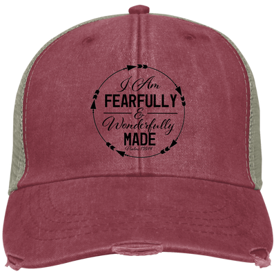 Wonderfully Made Embroidered Christian Ollie Hat Style 1