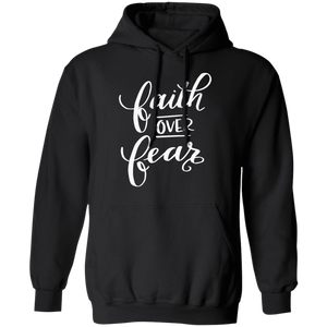 Faith Over Fear Christian Pullover Hoodie