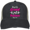 Believe Embroidered Christian Ollie Hat