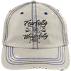 Wonderfully Made Embroidered Christian Distressed Trucker Hat Style 2