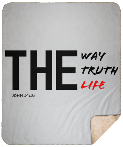 The Way Truth Life Christian Sherpa Blanket - 50x60