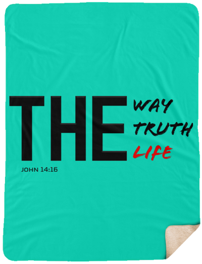 The Way Truth Life Christian Sherpa Blanket - 60x80