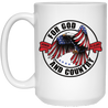 For God & Country Christian 15 oz. White Mug