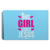 Girl Loves Jesus Christian Landscape Canvas .75in Frame
