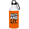 Salty And Lit Christian 20 oz. Stainless Steel White Water Bottle
