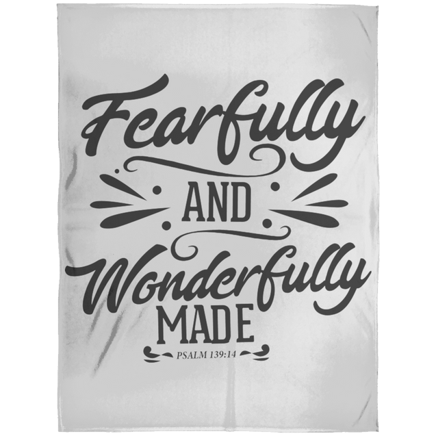 Fearfully & Wonderfully Made Christian Arctic Fleece Blanket 60x80