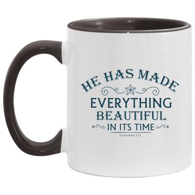 He Has Made Christian Accent Mug