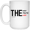 The Way Truth Life Christian 15 oz. White Mug