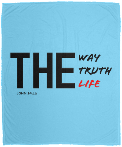 The Way Truth Life Christian Cozy Plush Fleece Blanket - 50x60