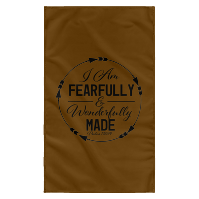 Fearfully & Wonderfully Made Christian Wall Flag 3ft. x 5ft.
