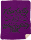 Fearfully & Wonderfully Made Christian Sherpa Blanket - 60x80